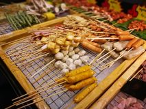 Meals and vegetables grilled with  Sichuan pepper were famously. Seasoning of  Xishuangbanna that famous Street foods in Norths of Thailand Stock Photography