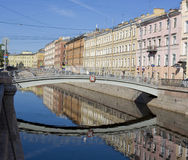 Mealy bridge in St. Petersburg Royalty Free Stock Image