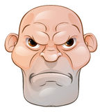 Mean Angry Cartoon Man Royalty Free Stock Image