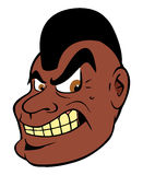 Mean black guy Mohawk. Cartoon illustration of a mean black guy Mohawk Stock Photography