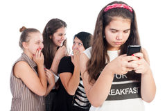 Mean and bullying girls Stock Photos