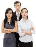 We Mean Business. Three young executives look as if they mean business Royalty Free Stock Photos
