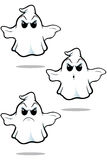 Mean Cartoon Ghost Set Royalty Free Stock Images