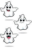 Mean Cartoon Ghost Set Stock Image