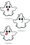 Mean Cartoon Ghost Set Stock Photography