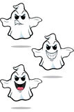 Mean Cartoon Ghost Set Royalty Free Stock Image
