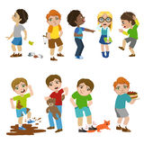 Mean Children Illustration Stock Photo