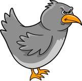 Mean Crow Bird Vector. Illustration Royalty Free Stock Image