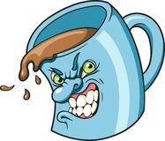 Mean Cup of Joe. This is a mean cup of coffee made just the way you like it Stock Image