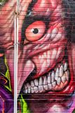 Scary looking graffiti Royalty Free Stock Images