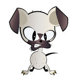 Mean dog illustration. An illustration of a mean little dog Stock Photography