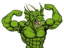 Mean Dragon Mascot Royalty Free Stock Photo