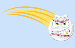 Mean Fast Ball royalty free illustration