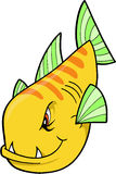 Mean Fish. Yellow Mean Fish Vector Illustration Stock Images