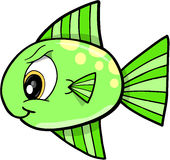 Mean fish Vector Illustration Royalty Free Stock Images