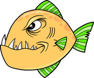 Mean fish Vector Illustration. Big Mean fish Vector Illustration Royalty Free Stock Photography