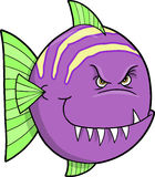 Mean fish Vector Illustration. Mean Purple fish Vector Illustration Stock Image