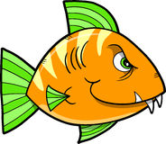 Mean fish Vector Illustration Stock Photo