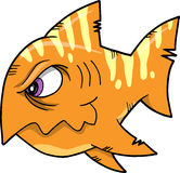 Mean fish Vector Illustration. Mean Orange fish Vector Illustration Royalty Free Stock Photography