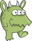 Mean Green Monster Vector Stock Photo