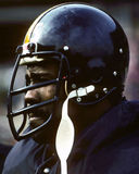 Mean Joe Greene. Pittsburgh Steelers defensive lineman Joe Greene. (Image taken from color slide Royalty Free Stock Image
