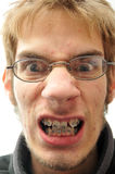 Mean man with braces Royalty Free Stock Photo
