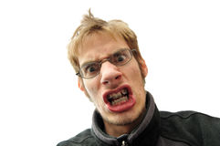Mean man with braces Royalty Free Stock Images