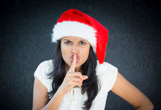 Mean Santa Royalty Free Stock Images