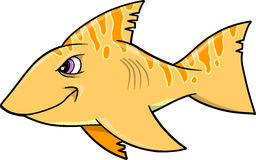 Mean Shark Vector Illustration. Orange Mean Shark Vector Illustration Royalty Free Stock Photos