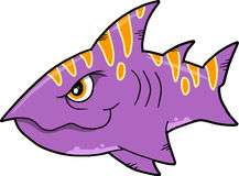Mean shark Vector Illustration Stock Image