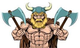 Mean Viking Axe Warrior Royalty Free Stock Photos