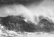Mean Wave. Photograph of a crashing wave on a stormy day at Sandy Beach, Hawaii Royalty Free Stock Photography