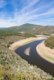 Meander of the Alagón River in Las Hurdes Stock Images
