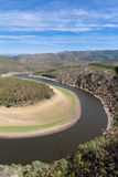 Meander of the Alagón River in Las Hurdes Royalty Free Stock Images