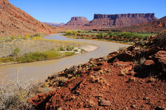 Meander in Colorado River Royalty Free Stock Photo