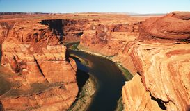 Meander Colorado River. Grand Canyon NP, Arizona Stock Photos