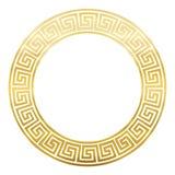 Meander Design Circle Seamless Golden Pattern royalty free stock photos