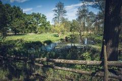 Meander granica rzeka zdjęcia stock