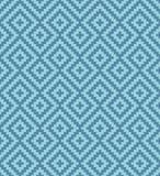 Meander Pixel Art Seamless Pattern. Royalty Free Stock Photo