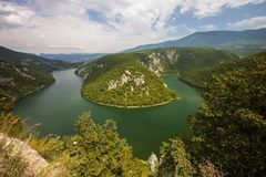 Meander of the river Vrbas Stock Images