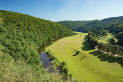 The meander of the Semois at Cordemois Royalty Free Stock Photo