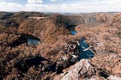Meander of Vltava river Stock Images