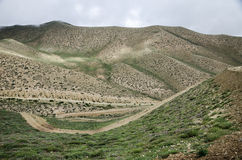 Meandering high mountain roads along the route from Ghemi to Lo Stock Image