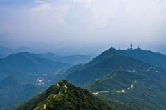 Meandering hills in forest park near shenzhen city Stock Photography