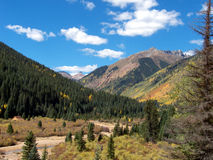 Meandering River. High country in the Rocky Mountains during Autumn stock photos