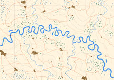 Meandering river Stock Photography