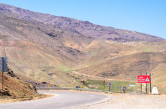 The Meandering Road Through the Atlas Mountains in Morocco royalty free stock photo