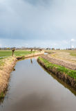 Meandering stream in a rural landscape Stock Image