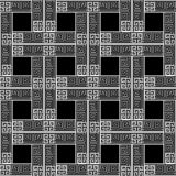 Meanders checkered greek vector seamless pattern. Black and whit. E abstract geometric background. Greek key ancient check background. Geometry shapes, squares vector illustration
