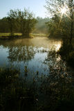 Meanders van rivier Lucina Royalty-vrije Stock Afbeelding
